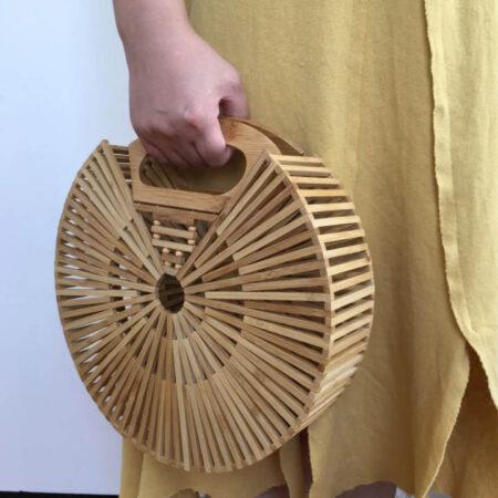 sac bambou rond grand, shineboutique