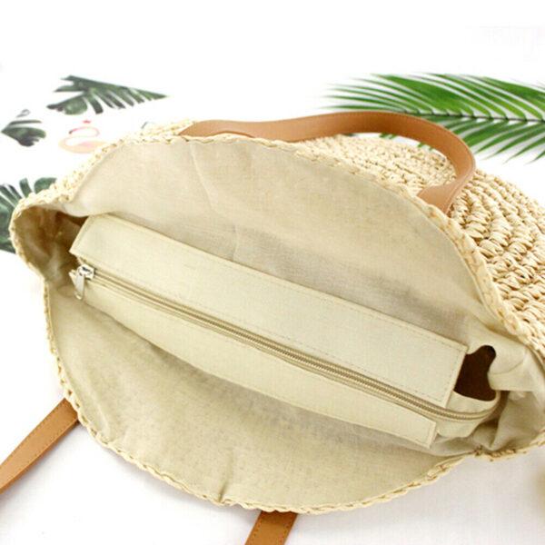 sac paille plage beige, shineboutique