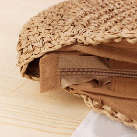 sac paille plage brun tangara, shineboutique