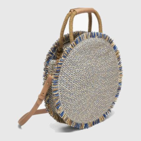 sac paille rond bohème tonga, shineboutique
