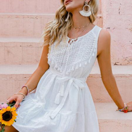 robe blanche bohème