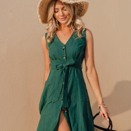 robe bohème verte