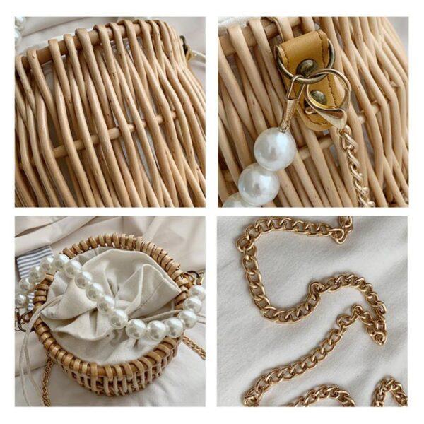 sac paille et perles caliope