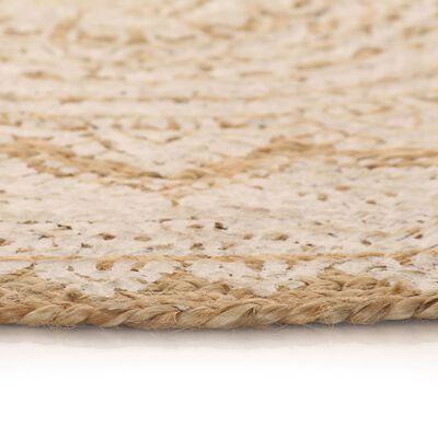 tapis jute mandala blanc