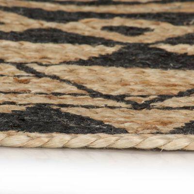 tapis rond mandala noir
