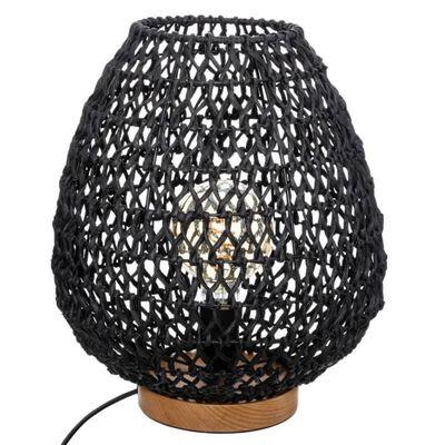 lampe boheme cordes de papier tissé noir