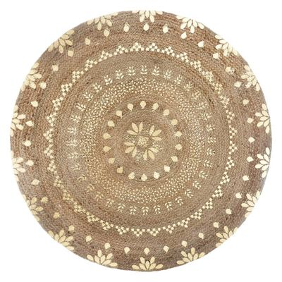 tapis jute naturel doré