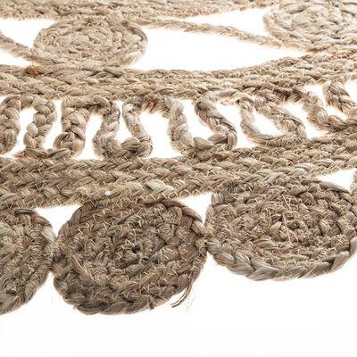 tapis rond jute ajourée
