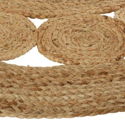 tapis rond jute végétal