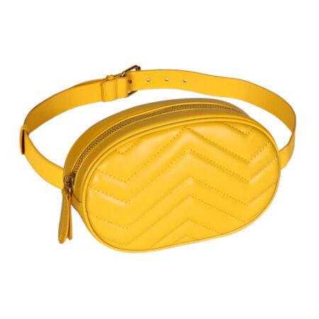 sac ceinture matelasse losange moutard jane