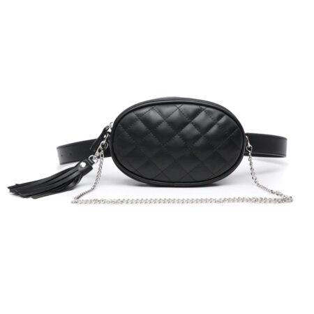 sac ceinture matelassé noir tess